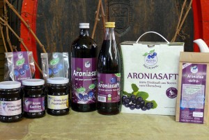Aronia-Sortiment auf Gut Pesterwitz