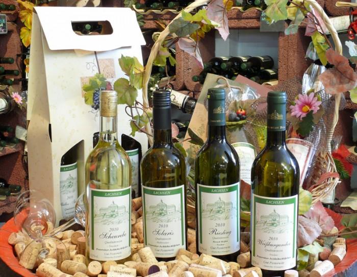 Sächsischer Weißwein Gut Pesterwitz bei Dresden