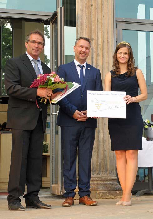 Landesehrenpreis Weingold Sachsen, Foto: Weinbauverband Sachsen e.v.