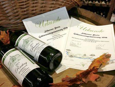 Prämierter Pesterwitzer Wein 2016